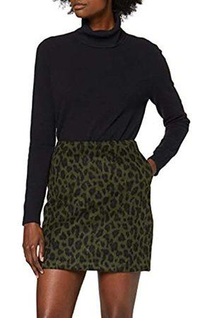 warehouse Women's Animal Jacquard Pelmet Skirt