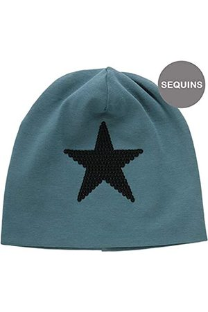 Green Cotton Boy's Star Solid Beanie Hat