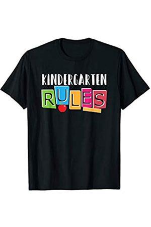 BUBL TEES Kindergarten Rules Back to School Tee T-Shirt