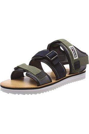 Tommy Hilfiger Men's Urban Tj Strap Sandal Sling Back, (Dusty Olive 011)