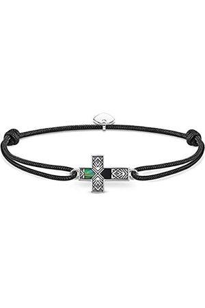 Thomas Sabo Unisex-bracelet Little Secret cross abalone mother-of-pearl 925 Sterling blackened LS083-482-11-L22v