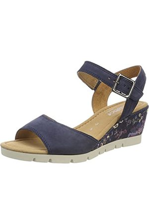 Gabor Shoes Women's Comfort Sport Ankle Strap Sandals, (Navy Flower)