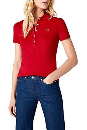 Lacoste Women's PF7845 Short Sleeve Polo Shirt, (Toréador)
