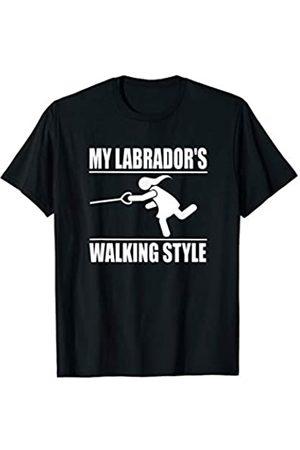 ToonTyphoon Humorous Labrador Retriever ( Women ) Walking Style T-Shirt
