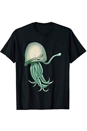 Funny Vacation Jellyfish Gift Ideas Kids Men Women Kids Beach Clothes Jellyfishes Art Dress Dabbing Jellyfish T-Shirt
