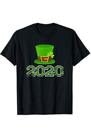 St Patricks Day 2020 Vibess 2020 St. Patrick's Hat Green Shamrock Clover Irish Holiday T-Shirt