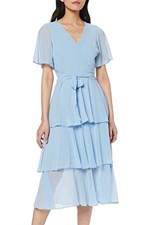 Dorothy Perkins Women's Plain Flutter SLV Tiered MIDI Dress
