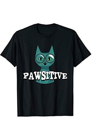 My Shirt Hub Smart Science Cat Pawsitive Funny Be Positive Motivational T-Shirt