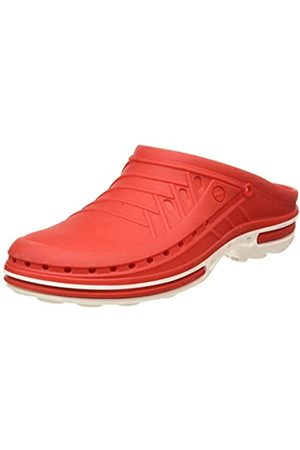 Wock Unisex Adults Clog Without Strap, (Weiss/Rot 4501030-43)