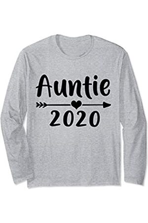 Pregnancy Baby Announcement Family Matching Shirts Hippie Be A Auntie 2020 Tribe Heart Gift Cute Women Long Sleeve T-Shirt