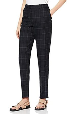 Dorothy Perkins Women's Navy Grid Checked Ankle Grazer Trousers Pants