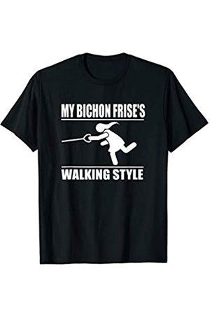 ToonTyphoon Humorous Bichon Frise ( Women ) Walking Style T-Shirt
