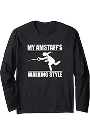 ToonTyphoon Humorous Amstaff ( Women ) Walking Style Long Sleeve T-Shirt