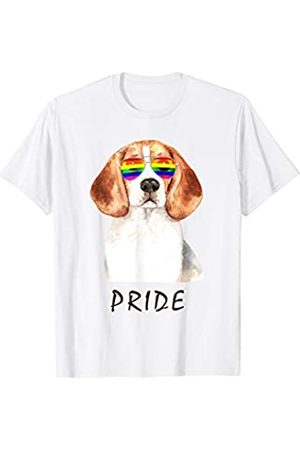 22:35 BRIGHT Beagle Sunglasses Pride LGBT Rainbow Flag T-Shirt