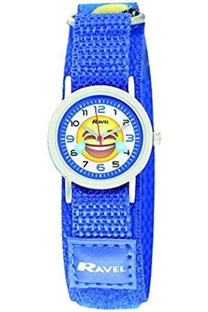 Ravel Children's Emoji Watch on Blue Easy Fasten Strap