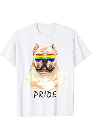 22:35 BRIGHT American Bully Sunglasses Pride LGBT Rainbow Flag T-Shirt