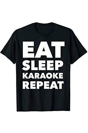 BW Karaoke Gifts Eat Sleep Karaoke Repeat Lounge Singer T-Shirt