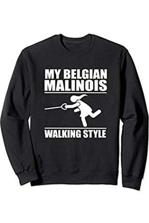 ToonTyphoon Humorous Belgian Malinois ( Women ) Walking Style Sweatshirt