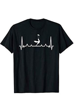 Kitesurfing Gift Apparel Mens Womens Kids Kite surfing Heartbeat Design Cool Kitesurfing EKG T-Shirt