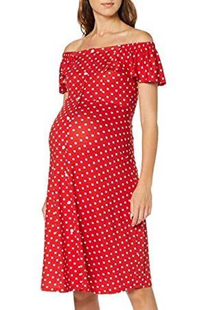 Dorothy Perkins Women's Spot Jersey Bardot Midi Dress