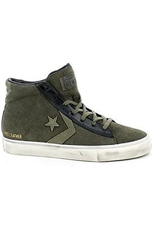 Converse Unisex Adults' Lifestyle Pro Leather Vulc Distressed Mid Low-Top Sneakers, (Tarmac/ /Turtledove 090)