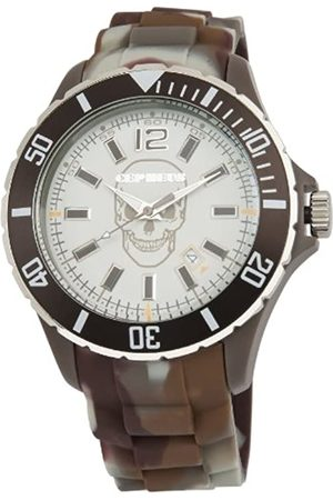 CEPHEUS Unisex Quartz Watch with Dial Analogue Display and Silicone Strap CPX01-095B