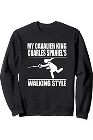 ToonTyphoon Humorous Cavalier King Charles Spaniel (Women) Walking Style Sweatshirt