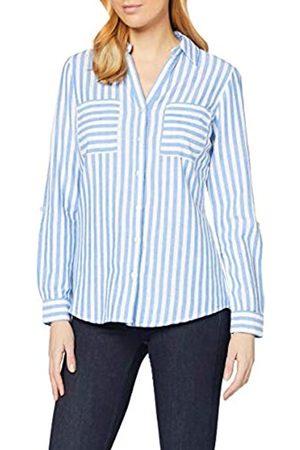 Dorothy Perkins Women's Blue Stripe Linen Shirt