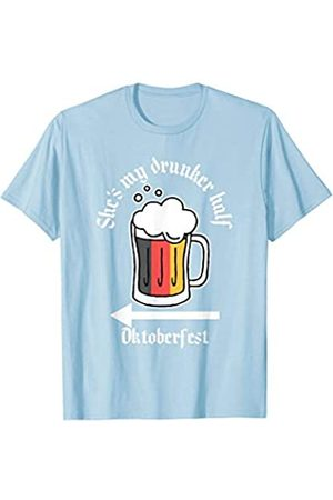 BUBL TEES She's My Drunker Half Funny Oktoberfest Beer Drinker T-Shirt
