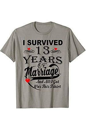 Medotukito 13th Wedding Anniversary Gift For Her and Him Couples Shirt