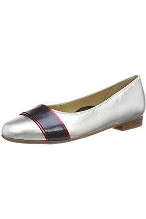 ARA Women's Sardinia 1231316 Closed Toe Ballet Flats, (Silber,Rot/Blau 07)