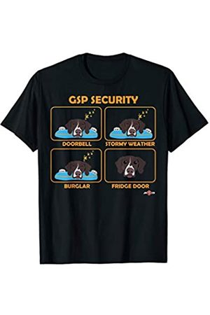 ToonTyphoon Braunfleckige Deutsch Kurzhaar-Zeigersicherheit T-Shirt