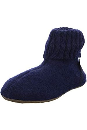 Haflinger Unisex Adults' Everest Karlo Hi-Top Slippers, (Mittelblau 70)