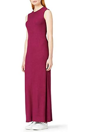 MERAKI Amazon Brand - Women's Slim Fit Rib Summer Maxi Dress, 14