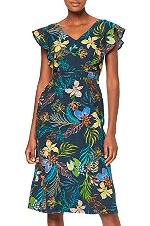 FIND Amazon Brand - Women's Midi Linen A-Line Dress, 18