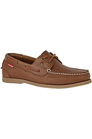 Chatham Galley II Dark Tan Premium Leather Boat Shoes-9