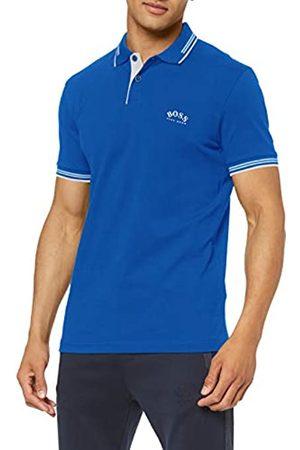 HUGO BOSS Men's Paul Curved Polo Shirt, Bright 436)