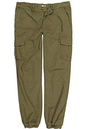 JP 1880 Men's Big & Tall 6 Pocket Stretch Cargo Pants Bright Olive 56 716946 45-56