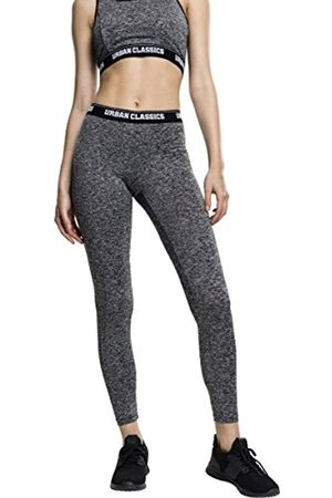 Urban classics Women's Ladies Active Melange Logo Leggings Sports Trousers