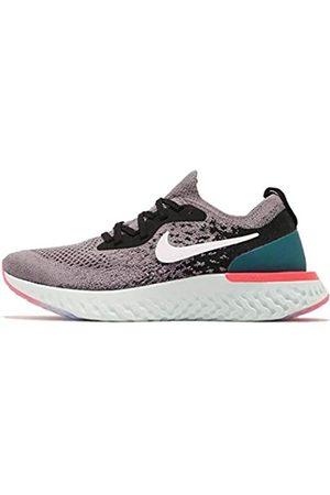 Nike Women's WMNS Epic React Flyknit Running Shoes, Multicoloured (Gun Smoke/ / /Geode Teal 010)