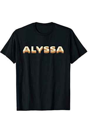 Graphic 365 Alyssa Name Retro Vintage Personalized Gift T-Shirt