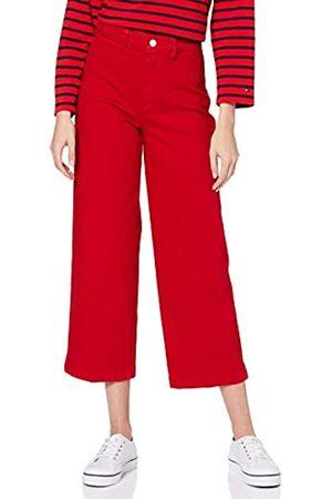Tommy Hilfiger Women's Bell Bottom HW C CLR Straight Jeans
