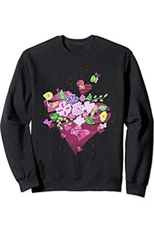 Flowery Bouquet Tee Co. Pretty Bouquet No Rain No Flowers Women's Sweatshirt