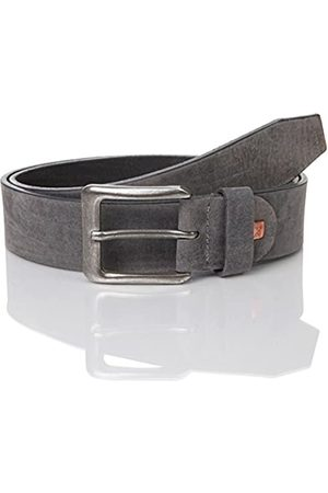 Lindenmann The Art of Belt Mens leather belt/Mens belt, full grain leather belt with nubuk-look, unisex, anthracite, Größe/Size:120
