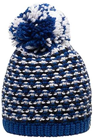 Giesswein Beanie Turnerkamp Royal ONE - Cuddly Knitted hat for Children, Merino Wool, Fluffy Bobble Made of Wool, Warm Fleece Lining