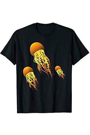 Funny Vacation Jellyfish Gift Ideas Kids Men Women Sea Ocean Beach Jellyfishes Swarm Art Dress Gift Jellyfish T-Shirt