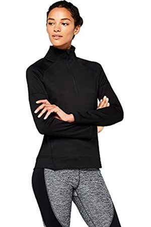 AURIQUE Amazon Brand - Women's Half Zip Funnel Neck Sports Jacket, 10