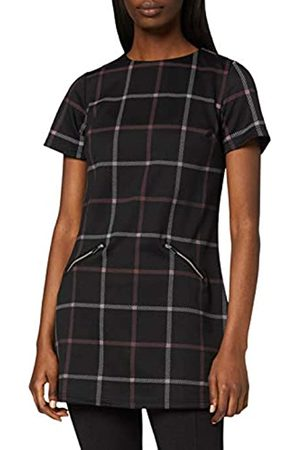 Dorothy Perkins Women's and Wine Windowpane Tunic Shirt