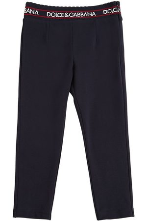 Dolce & Gabbana Cotton Interlock Pants W/ Logo Detail