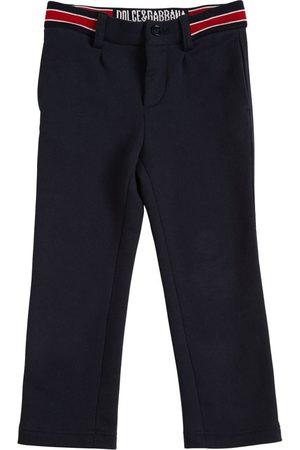 Dolce & Gabbana Cotton Pants W/ Logo Detail